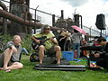 Fremont Solstice Parade 2007 - musicians at Gasworks 20.jpg