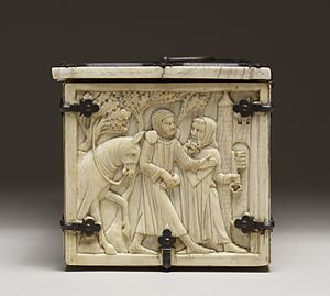 Courtship - Ivory French casket with scenes of romances – possibly a courtship gift. Courtship is the systematic process that one undergoes in order to ensure compatibility with a lifelong partner.Walters Art Museum