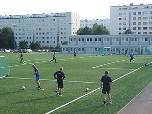 Marienlyst - The local football team, FK Frigg Oslo.
