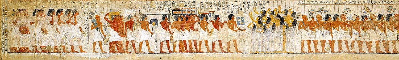 Похоронная процессия визиря Ра-мосе (рисунок в TT55), XVIII династия