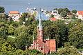 Frombork - kościół ewangelicki, ob. pogrzebowy św. Wojciecha (widok z wieży Radziejowskiego).jpg
