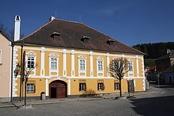 Front view of Museum of Josef Hoffmann in Brtnice, Jihlava District.jpg