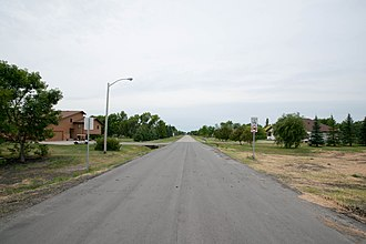 Frontier, North Dakota - Street in Frontier