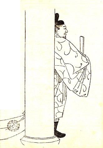 Fujiwara no Tadahira - Tadahira by Kikuchi Yōsai