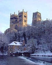 Durham Cathedral, above the River Wear.