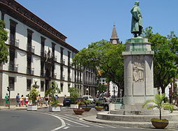 Statue of João Gonçalves Zarco, the first Portuguese to settle in Madeira