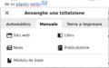 Funtzionalidade de tzitatzione manuale de Citoid pro VisualEditor.png