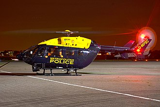 Police aviation in the United Kingdom - 2 of the 4 EC145s belonging to NPAS still carry Metropolitan Police branding, due to the cost of respraying them