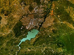 Satellite image of Gaborone