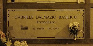 Gabriele Basilico - Basilico's grave at the Monumental Cemetery of Milan in 2015