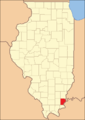 Gallatin in 1847, when a cession to Hardin and the creation of Saline County reduced it to its current territory
