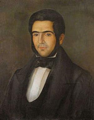Carlos Morel - Portrait in oils c.1838  by Fernando García del Molino