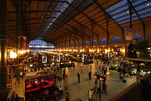 Gare du Nord, a symbol of the Industrial Revolution. - Train stations have often been called the cathedrals of the 19th century.