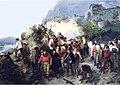 Garibaldi blessé à la bataille de l'Aspromonte, Gerolamo Induno.jpg