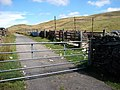 Gate on a mountain road - geograph.org.uk - 217108.jpg