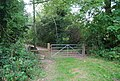 Gate on the footpath to Chartwell - geograph.org.uk - 1499972.jpg