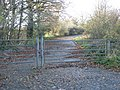 Gates block a disused lay-by west of Tedburn St Mary - geograph.org.uk - 1594854.jpg