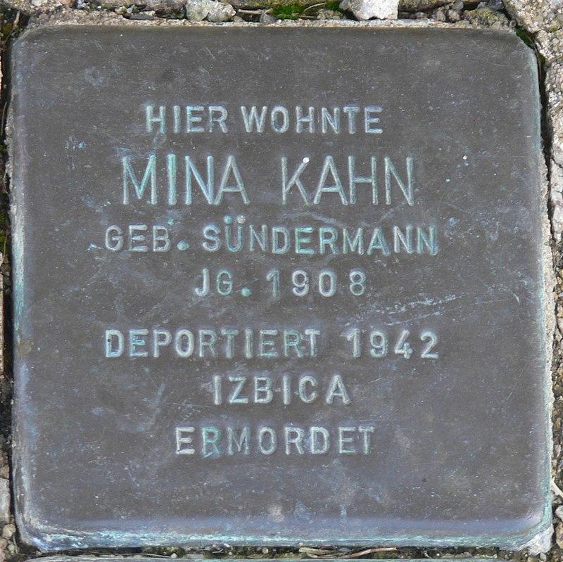 Gaukönigshofen Stolperstein Kahn, Mina.jpg