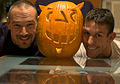 Gay Couple CarbonNYC and friend with pumpkin.jpg