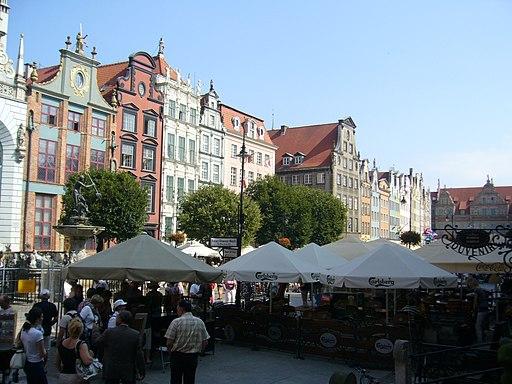 Gdansk - Townhouses, Dlugi Targ street