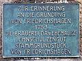 Gedenktafel Müggelseedamm 162 (Frierh) Gründung von Friedrichshagen.jpg