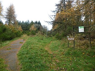 A9 road (Scotland) - A section of one of General Wade's old military roads, south of Inverness.