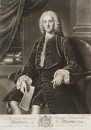 Richard Houston - Engraving of George Grenville.