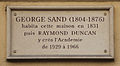 George Sand plaque, 31 rue de Seine, Paris 6.jpg