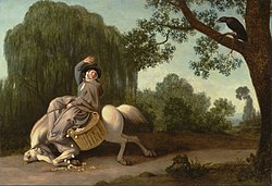 George Stubbs: The Farmer's Wife and the Raven