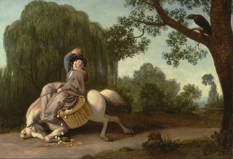 File:George Stubbs - The Farmer's Wife and the Raven - Google Art Project.jpg