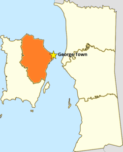 Jelutong is located in George Town, Penang