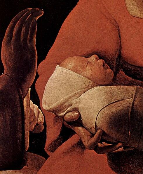 File:Georges de La Tour - The New-born (detail, Musée des Beaux-Arts de Rennes).jpg