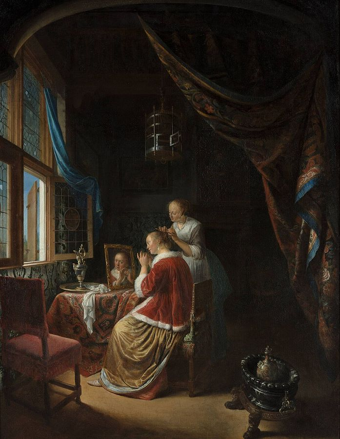 A Young Woman at Her Toilet