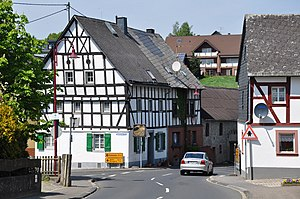 Kelberg - Town centre with timber-framed houses