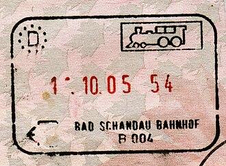 Schengen Area - Image: Germany bad schandau exit