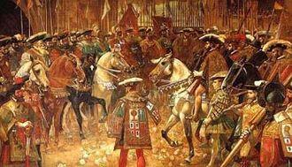 La pau de les Germanies, oli sobre llenç, per Marcelino Unceta