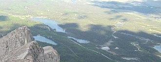 Ghost Lake - Image: Ghost Lake aerial 01.Alberta.CA