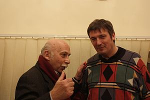 Boris Berezovsky (pianist) - Georgian composer Giya Kancheli and Boris Berezovsky in Tbilisi, after a concert at the Tbilisi State Conservatory