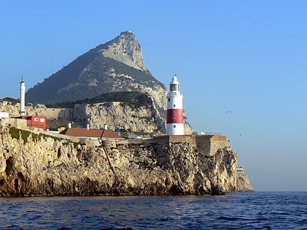 Europa Point as seen from the Strait of Gibraltar. Gibraltar-Europa-Point-LH-from-the-sea.jpg