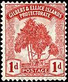 Gilbert and Ellice Islands 1911 (Mar.) Pandanus Pine 1d. carmine.jpg