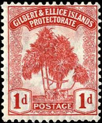 Gilbert and Ellice Islands - 1911 stamp of Gilbert and Ellice Island Protectorate