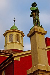 Giles County Courthouse, Confederate Memorial and cupola in Pearisburg