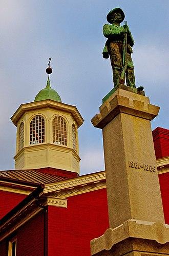 Giles County, Virginia - Image: Giles courthouse, Pearisburg