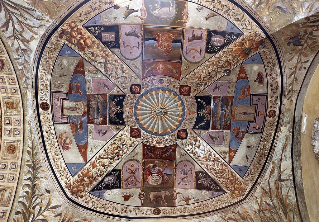 Giorgio di Giovanni, grottesche della loggia del cortile di palazzo chigi-saracini a siena, 03
