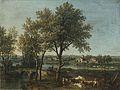 Giovanni Battista Cimaroli - Paesaggio fluviale con pastore e gregge.jpg