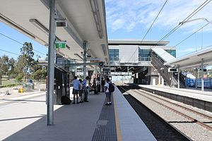 Glenfield railway station, Sydney - New concourse in December 2012