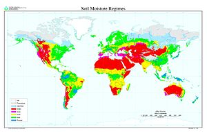 USDA soil taxonomy - Map of Global Distribution of Soil Moisture Regimes