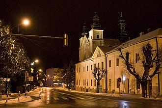 Brzozów - Image: Glowne skrzyzowanie noca Brzozow