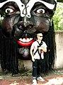 God mask and me, Haw Par Villa (Tiger Balm Theme Park), Singapore (41378820).jpg