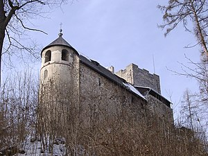 Gösting - The ruined Gösting Castle in 2006.